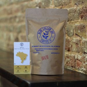 Bag of coffee from Brazil