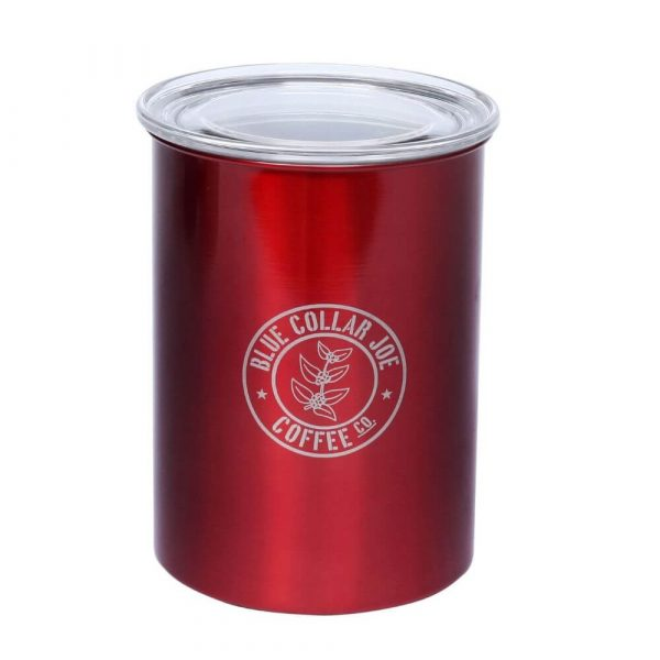 BCJ Red Stainless Canister