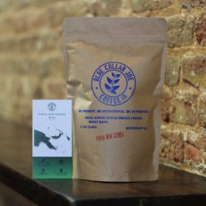 Bag of Papua New Guinea coffee