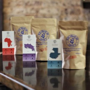Sample Bags of coffee from different regions