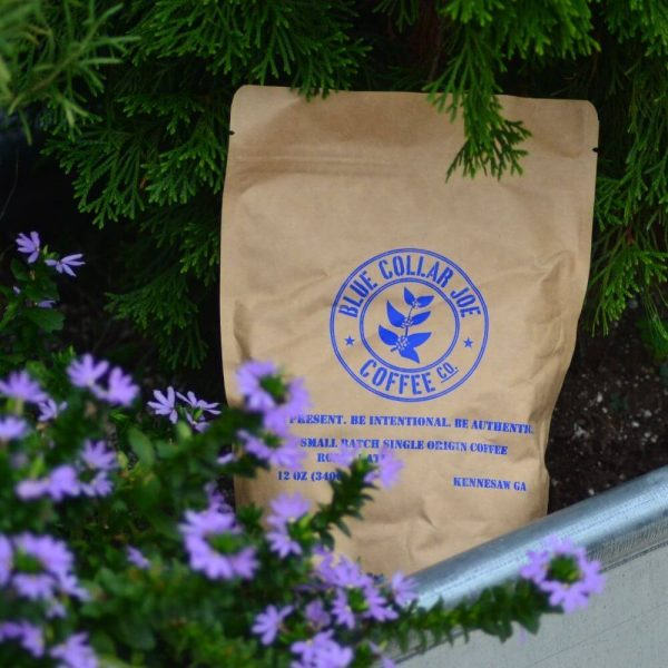 Bag of Coffee with Flowers
