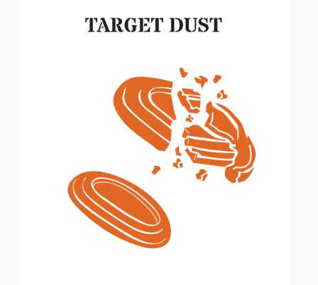 Clay targets breaking